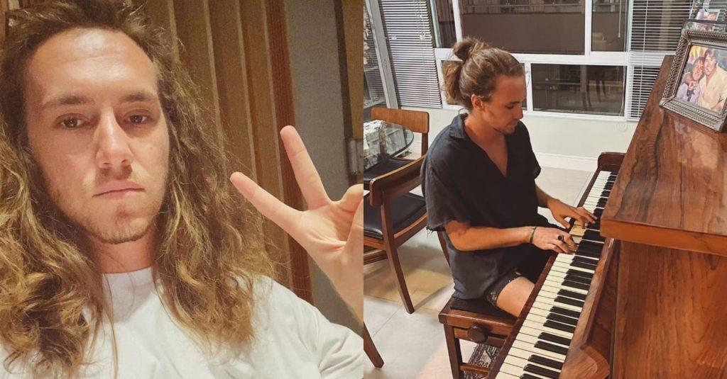 Cantor Vitor Kley faz show em seu apartamento e vizinhos cantam juntos (Foto: Reprodução/Instagram)