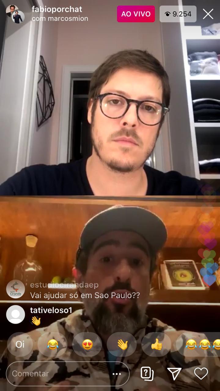 Marcos Mion e Fábio Porchat falaram sobre assuntos sérios nas redes sociais (Foto: Reprodução/Instagram)