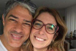 William Bonner e a esposa, a fisioterapeuta Natasha Dantas (Foto: Reprodução)