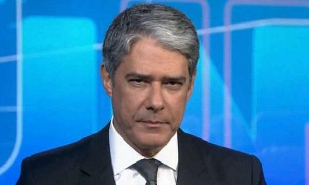 O âncora do Jornal Nacional da Globo, William Bonner (Foto: Reprodução / TV Globo) Carlos Alberto de Nóbrega SBT