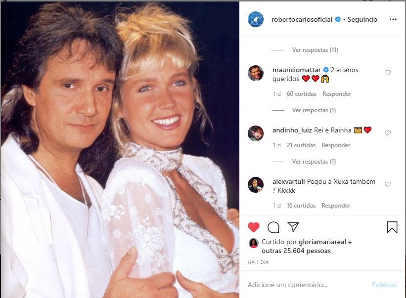 Xuxa e Roberto Carlos (Foto: Reprodução)