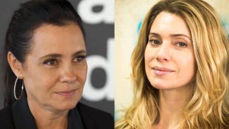 Adriana Esteves, em 1996 trocou Globo por SBT e foi substituída as pressas por Letícia Spiller (Montagem: TV Foco)