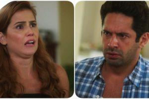 Alexia e Zezinho em cena de Salve-se Quem Puder na Globo