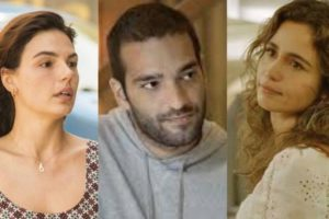 Em Amor de Mãe, Erica flagrará Betina e Sandro aos beijos (Montagem: TV Foco)