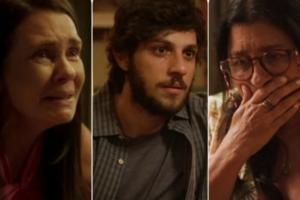 Thelma (Adriana Esteves) será desmascarada e Danilo (Chay Suede) descobrirá que é Domênico, filho de Lurdes (Regina Casé) em Amor de Mãe (Foto: Reprodução/Globo)