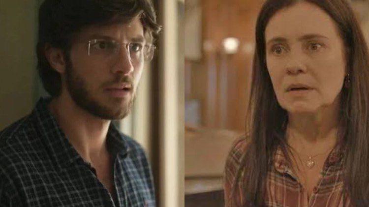 Em Amor de Mãe, Thelma é pega no flagra por Danilo (Monntagem: TV Foco)