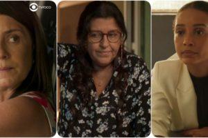 Thelma (Adriana Esteves), Lurdes (Regina Casé) e Vitória (Taís Araújo) em Amor de Mãe, que sofrerá mudanças (Foto: Reprodução/Globo/Montagem TV Foco)