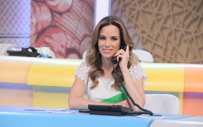A loira no mesão no 'Criança Esperança' (Foto: reprodução/Globo)