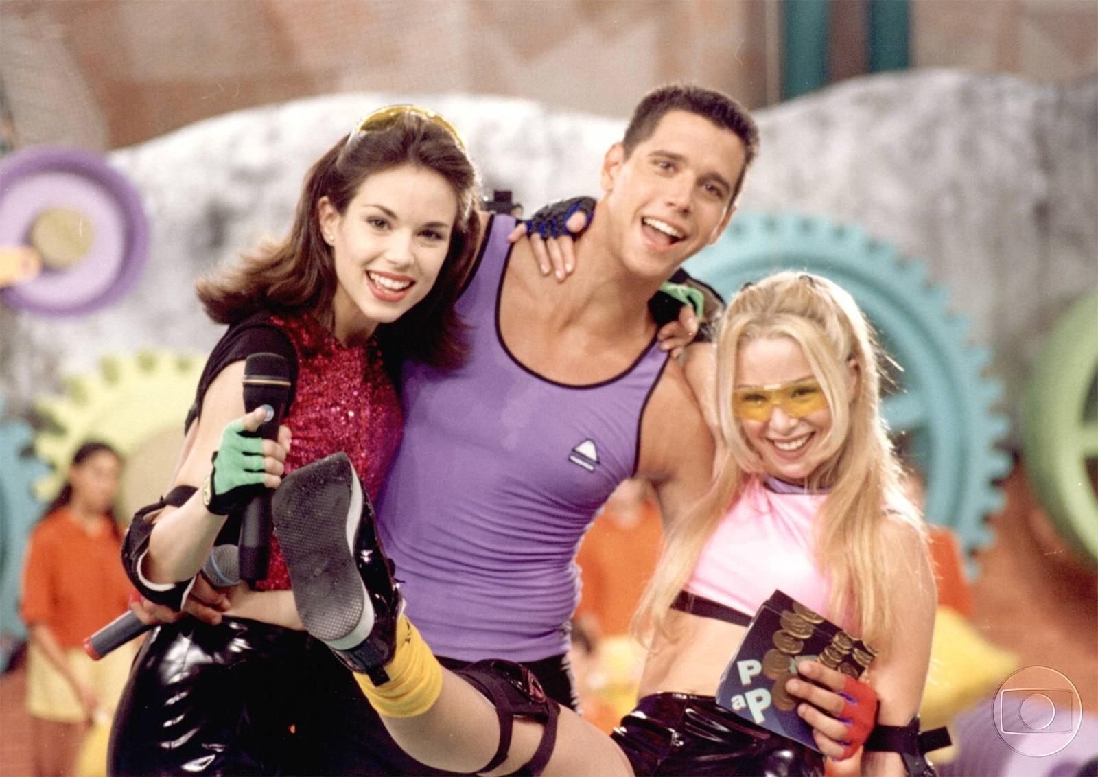 Ana Furtado ao lado de Márcio Garcia e Danielle Winits no 'Ponto a Ponto' (Foto: reprodução/Globo)