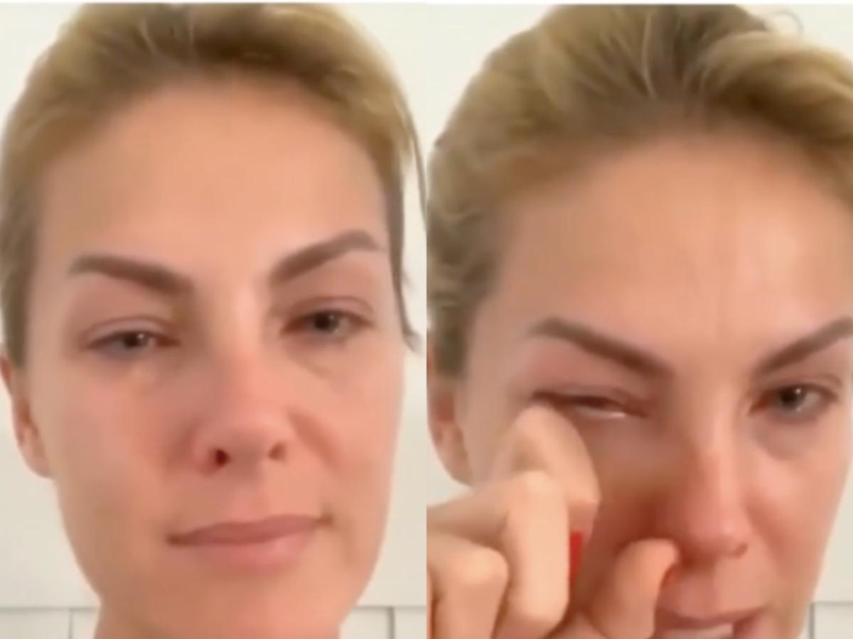 A famosa apresentadora do Hoje Em Dia da Record, Ana Hickmann voltou a agitar a internet ao aparecer chorando nas redes sociais após suspeita de coronavírus (Foto: Reprodução/Instagram/Montagem TV Foco)