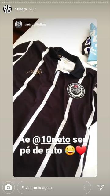 Felipe Andreoli e Neto interagiram no Instagram (Reprodução) globo