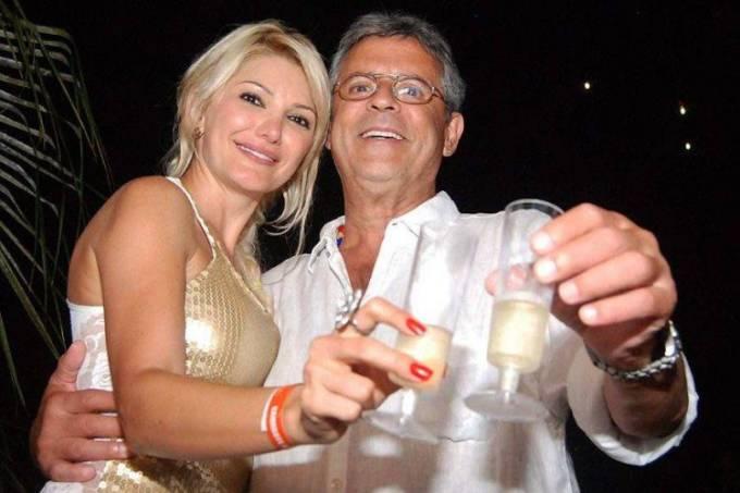 Antonia Fontenelle e o ex-diretor da Globo, Marcos Paulo - Foto: reprodução)