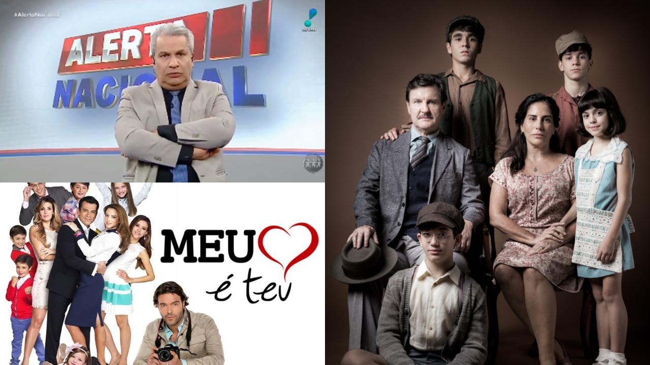 Meu Coração é Teu, Alerta Nacional e Éramos Seis foram destaques de audiência (Foto: Reprodução/SBT/Globo/RedeTV!/Montagem TV Foco)