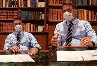Primeiro exame feito por Bolsonaro referente ao novo coronavírus testou positivo (Foto: reprodução)