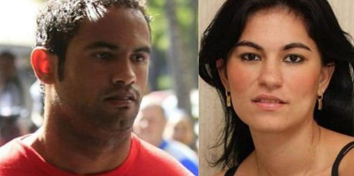 O goleiro Bruno Fernandes e Eliza Samúdio (Foto: Reprodução)