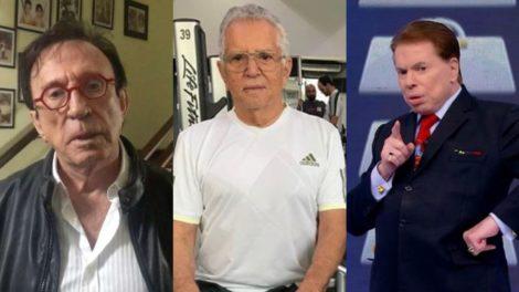 Carlos Alberto de Nóbrega teve brigas com Moacyr Franco e Silvio Santos ao longo de sua carreira (Foto: Reprodução/Instagram/SBT/Montagem TV Foco)