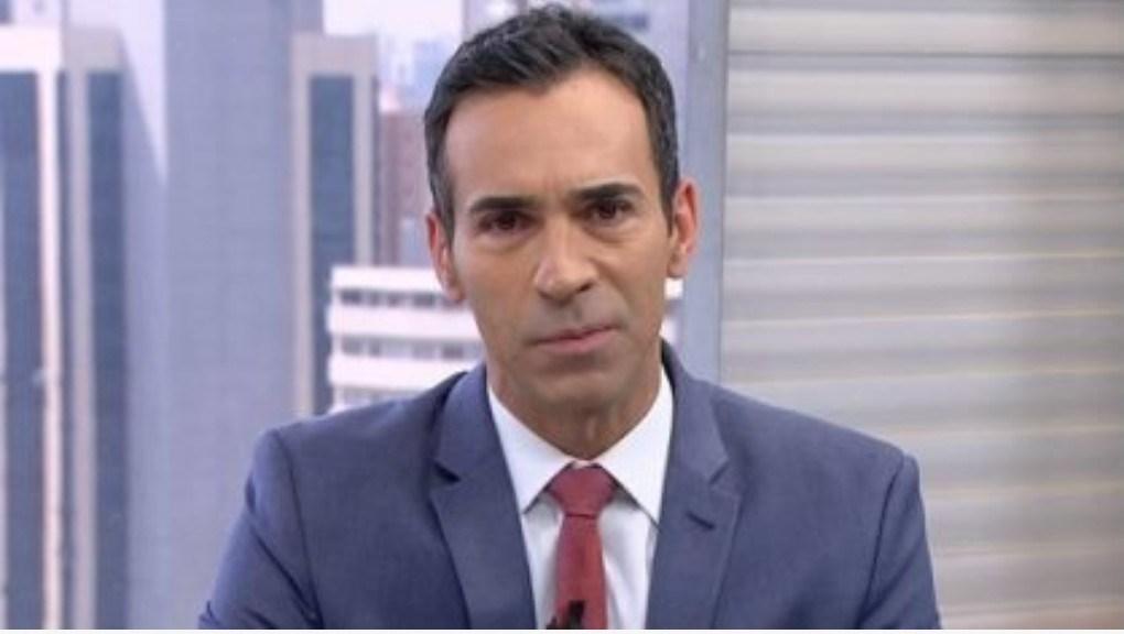 César Tralli apresenta o SP1 na Globo São Paulo (Reprodução)