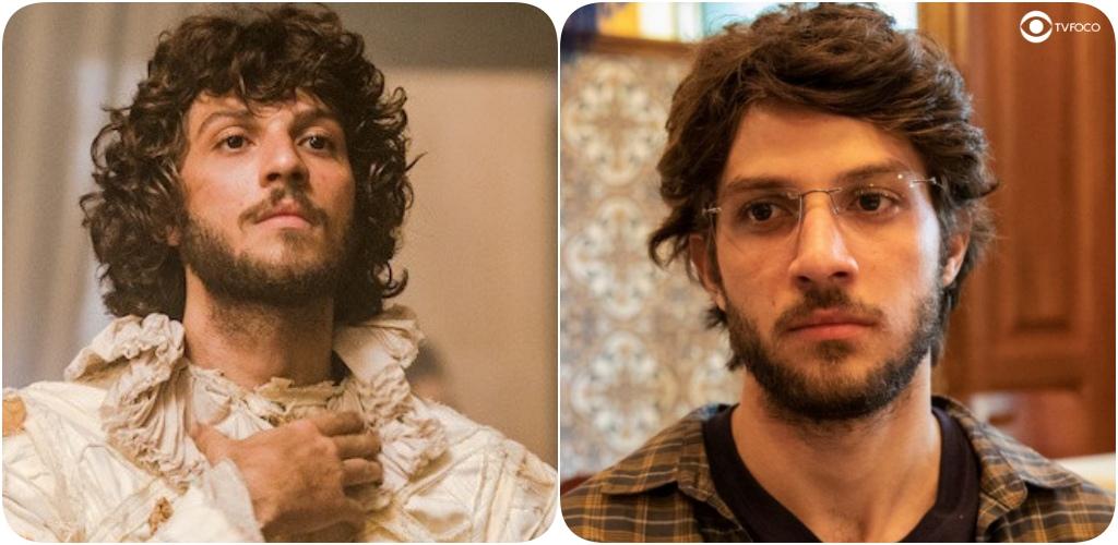 Chay Suede como Joaquim e Danilo de Novo Mundo e Amor de Mãe