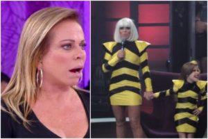 Christina Rocha faz cosplay de Lady Gaga em programa no SBT (Foto: Reprodução)