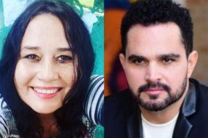 Cleo Loyola e o ex-marido, Luciano Camargo (Reprodução)