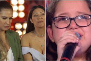 Criança chorou ao ser dispensada por Simone e Simaria no The Voice Kids - Foto: Montagem