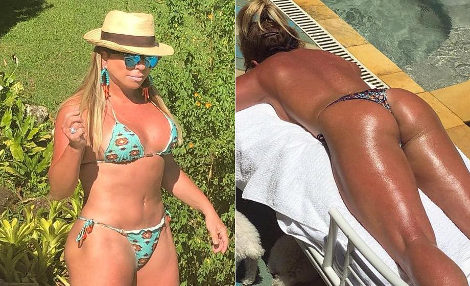 Christina Rocha ostentou o corpão nas redes sociais (Foto: Reprodução)