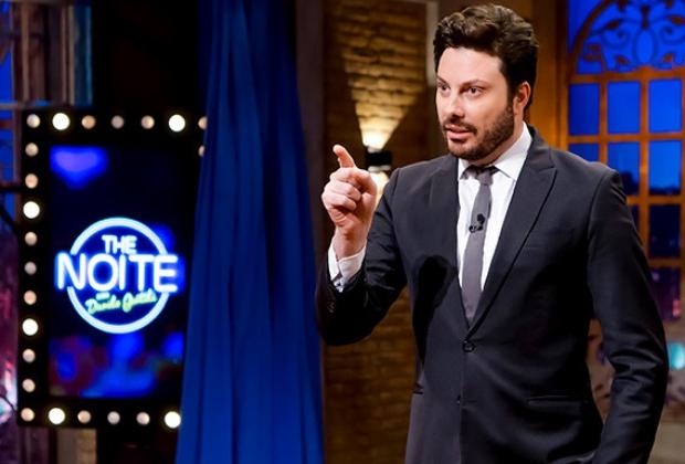 O apresentador em seu programa 'The Noite com Danilo Gentili' (Foto: reprodução/SBT)