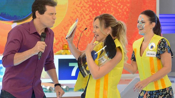 Eliana e Celso Portiolli (Foto: SBT)