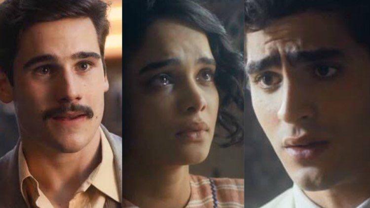 Alfredo descobrirá que León é seu filho e Lúcio chegará no meio da revelação (Montagem: TV Foco)
