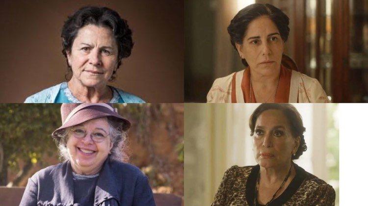 Elenco mais experiente de Éramos Seis fez toda diferença ao contar novamente a história (Montagem: TV Foco)
