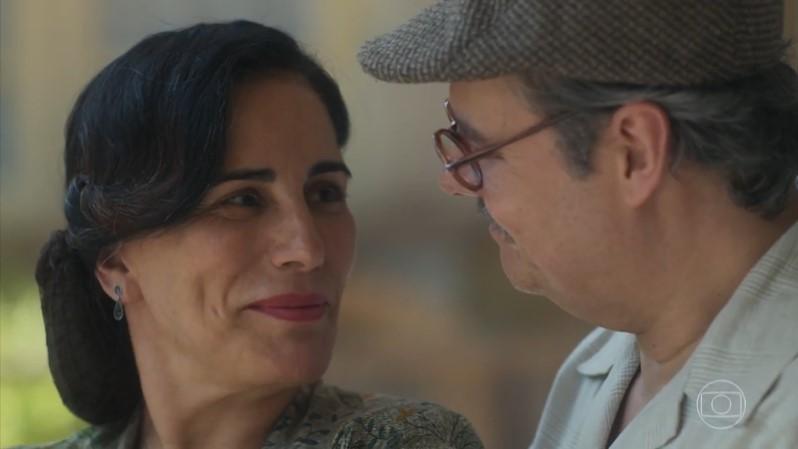 Gloria Pires (Lola) em cena do último capítulo de Éramos Seis, que teve ótima audiência (Foto: Reprodução/Globo)