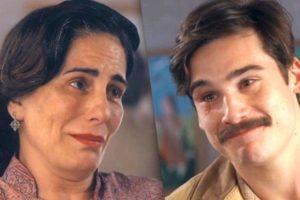 Lola (Gloria Pires) reencontra Alfredo (Nicolas Prattes) em Éramos Seis (Foto: Reprodução/Globo)