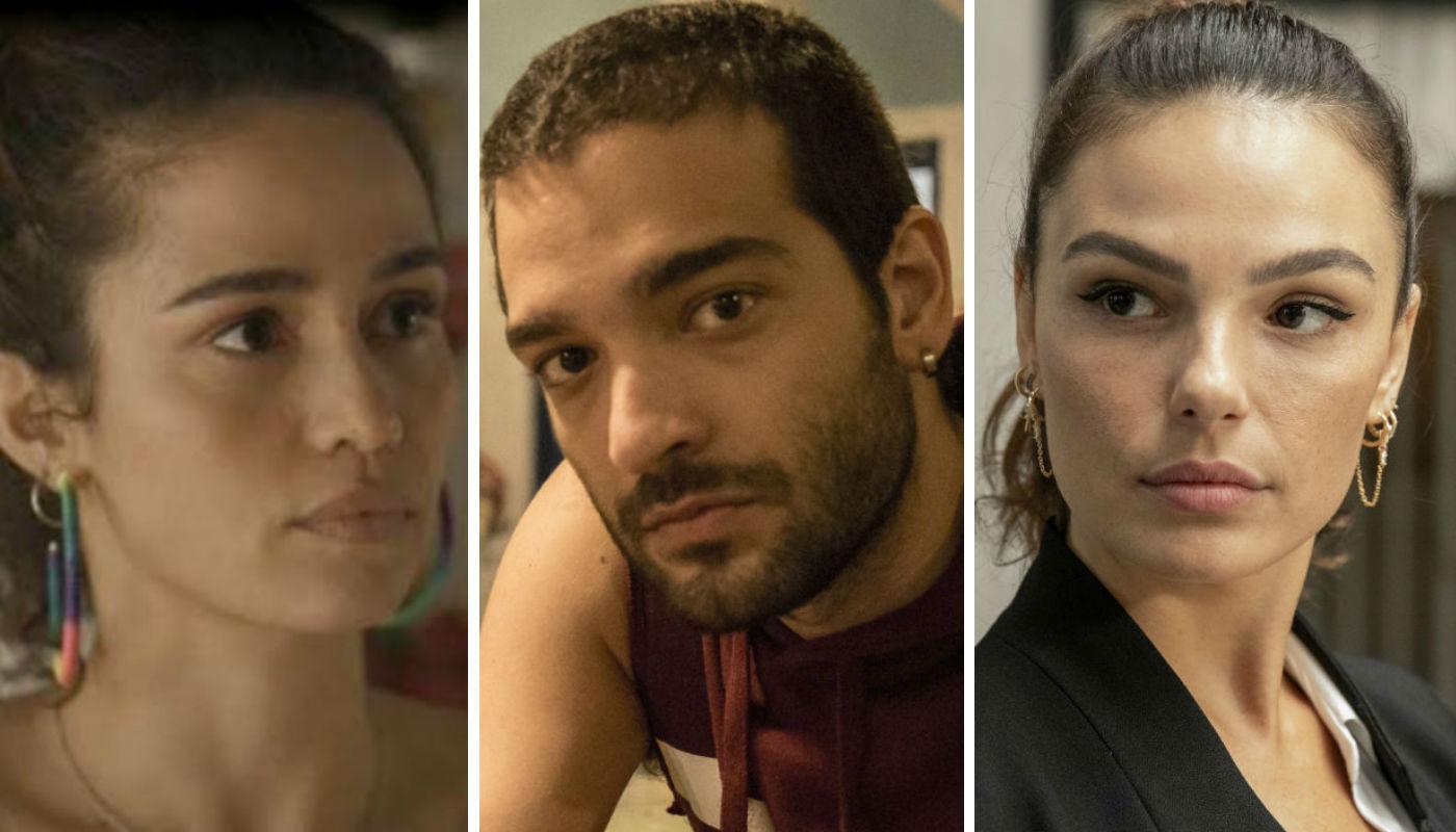 Érica não gostará nada de ver Sandro com Betina em Amor de Mãe - Foto: Reprodiução/Montagem