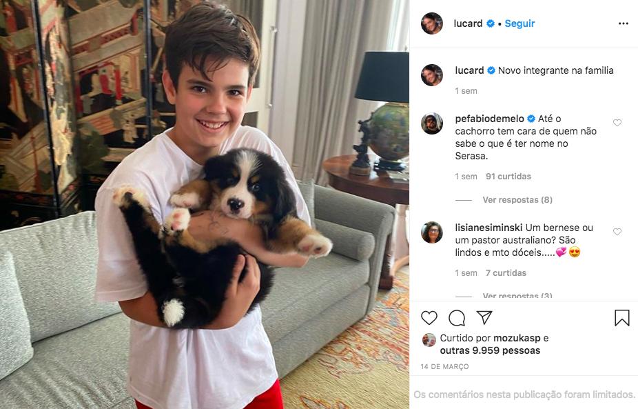 Esposa do apresentador da Globo, Luciana Cardoso fez a felicidade de seus seguidores ao anunciar a chegada de mais uma membro em sua família (Foto: Reprodução/Instagram)