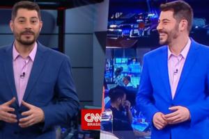Visual novo de Evaristo Costa na CNN Brasil dividiu opiniões (Foto montagem: TV Foco)