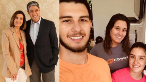 Fátima Bernardes comentou em um vídeo que mostra seus filhos com William Bonner treinando (Foto: Reprodução/TV Globo/Instagram/Montagem TV Foco)