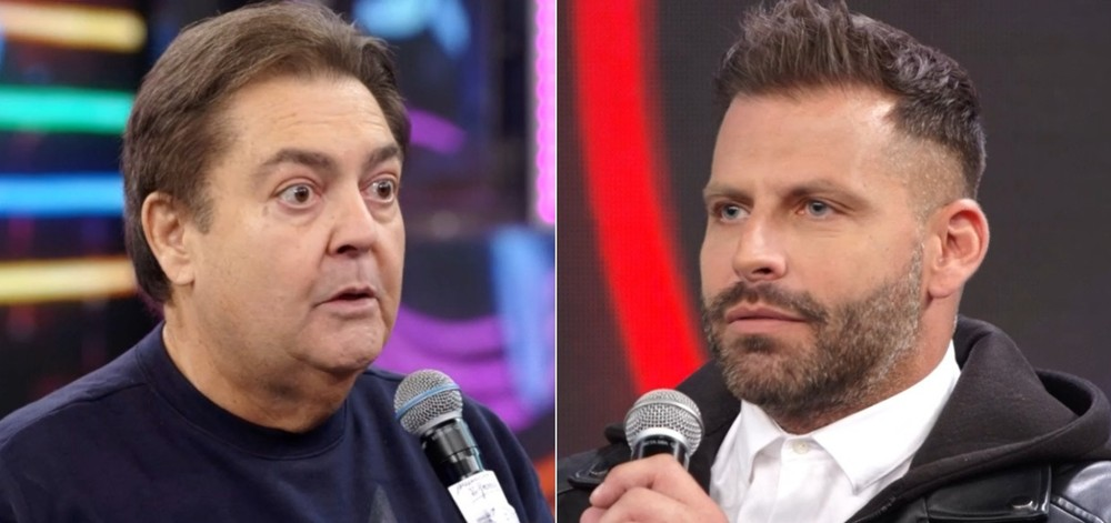 Henri Castelli e Faustão (Foto: Globo)