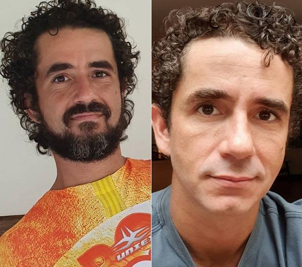 Felipe Andreoli antes e depois (Foto: Reprodução)