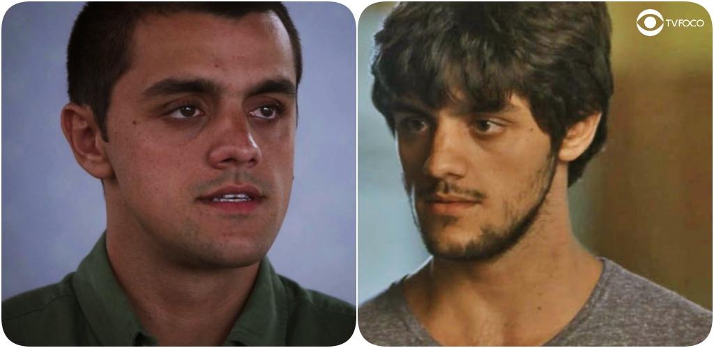 Fotos paralelas de Felipe Simas em Totalmente Demais e Salve-se Quem Puder