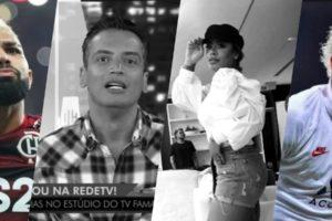Leo Dias afirmou que Rafaella Santos estava grávida de Gabigol, agora verdade foi mostrada (Foto montagem: TV Foco)