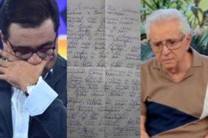 Geraldo Luís e Carlos Alberto de Nóbrega recebem aviso via carta psicografada (Foto: Montagem TV Foco)