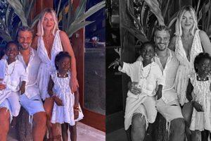 Giovanna Ewbank é surpreendida com divulgação dos filhos Titi e Bless (Foto: Reprodução/Instagram)