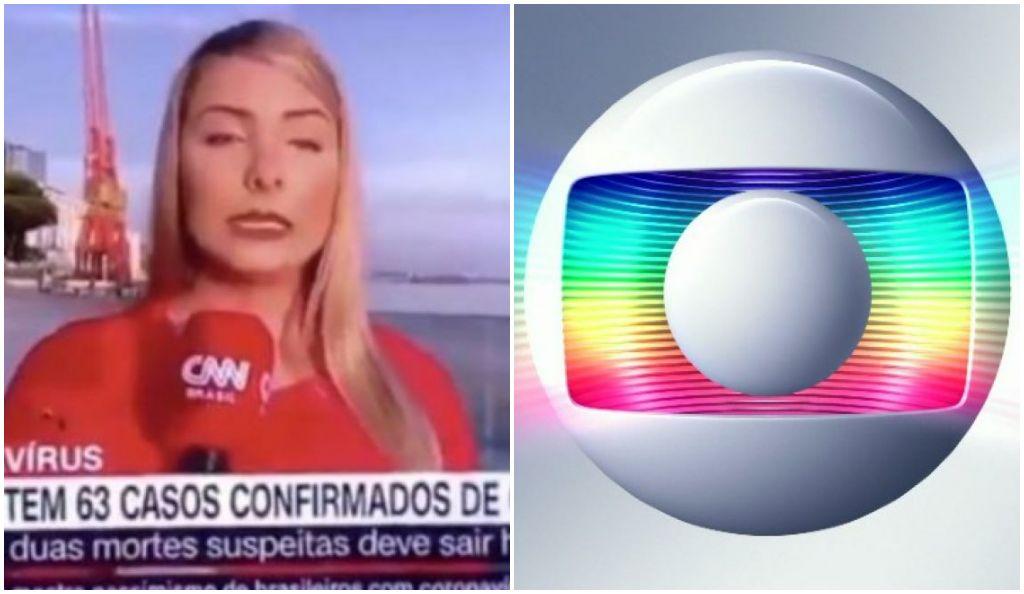 Globo e CNN Brasil pagaram mico por causa do novo Coronavírus - Foto: Montagem