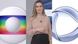 Agda Queiroz, da Globo, errou ao vivo e anunciou jornal da Record (Foto: TV Vanguarda/Reprodução/Montagem TV Foco)