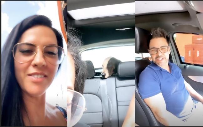 Graciele Lacerda e Zezé Di Camargo anunciaram um novo membro na família (Foto: Reprodução)