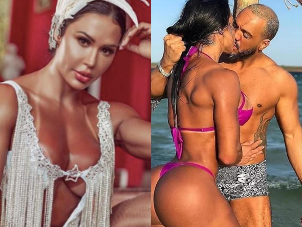 A famosa musa fitness da RedeTV! e esposa do cantor Belo, Gracyanne Barbosa voltou a agitar a vida de seus seguidores mais uma vez após dar algumas dicas sobre como não deixar o sexo cair na rotina durante a quarentena (Foto: Reprodução/Instagram/montagem TV Foco)