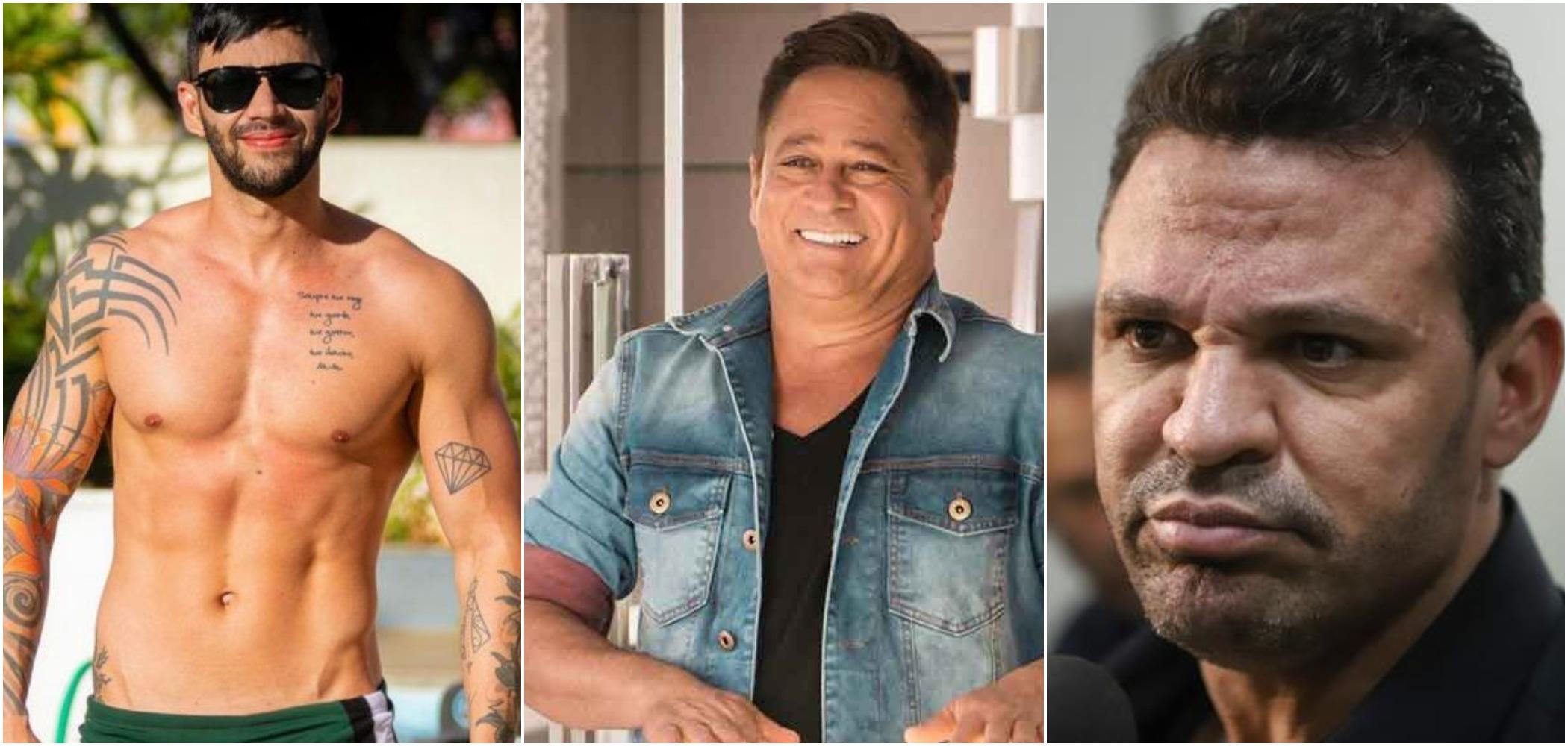 Gusttavo Lima, Leonardo e Eduardo Costa são 3 dos sertanejos mais famosos do país (Reprodução)