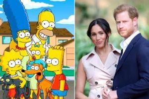 Produtor de Os Simpsons quer a participação de Meghan Markle e Harry em episódio especial da série (Foto: Reprodução)