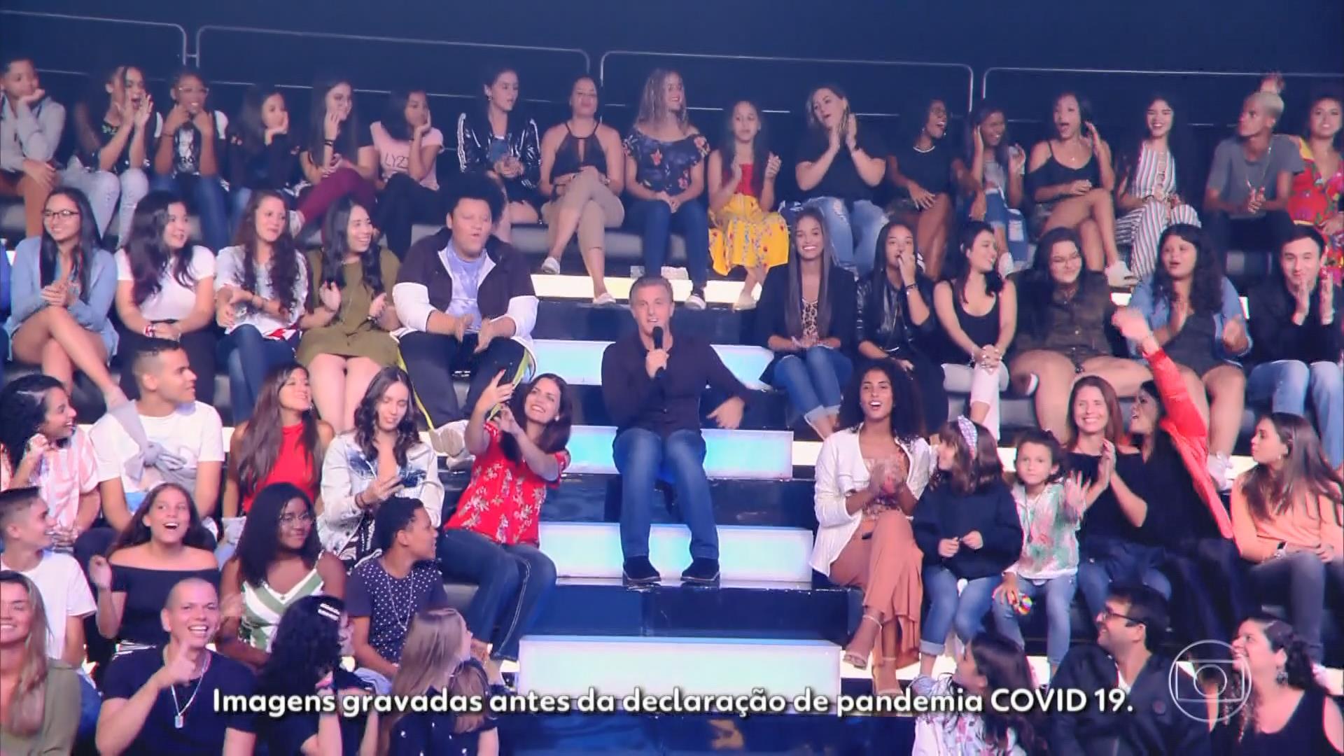 O Caldeirão do Huck deixou aviso para os telespectadores (Foto: Reprodução/TV Globo)