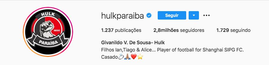 O famoso jogador de futebol mudou a discrição de seu perfil no Instagram, anunciando a sua união com a ex-sobrinha (Foto: reprodução/Instagarm)
